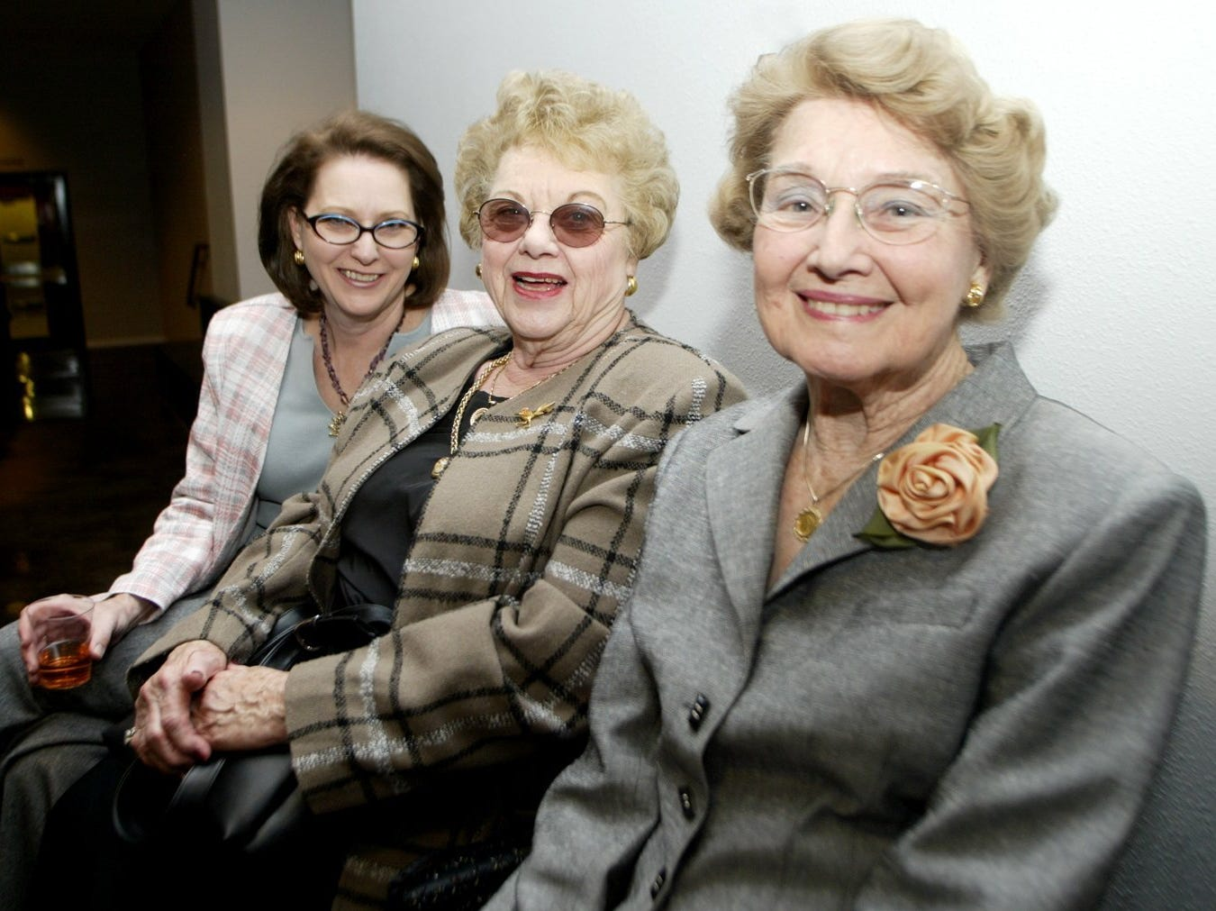 10/23/2003 Jenna Welch, mother of first lady Laura Bush, foreground, with, from left, Jenna Sims and Mary Bowhay.