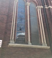 The FBI is looking into a case of vandalism on a stained glass window on the right side of St. Patrick Cathedral.