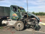 California Highway Patrol officers investigate a double fatal collision at Highway 63 and Avenue 336.