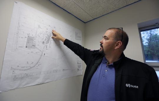 Christopher Graziano Suez director of New York operations in Tilcon's old office building in West Nyack, where Suez plans on moving their headquarters to May 13, 2019.