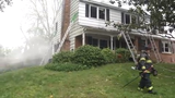 Raw Video: Three displaced in Newark house fire