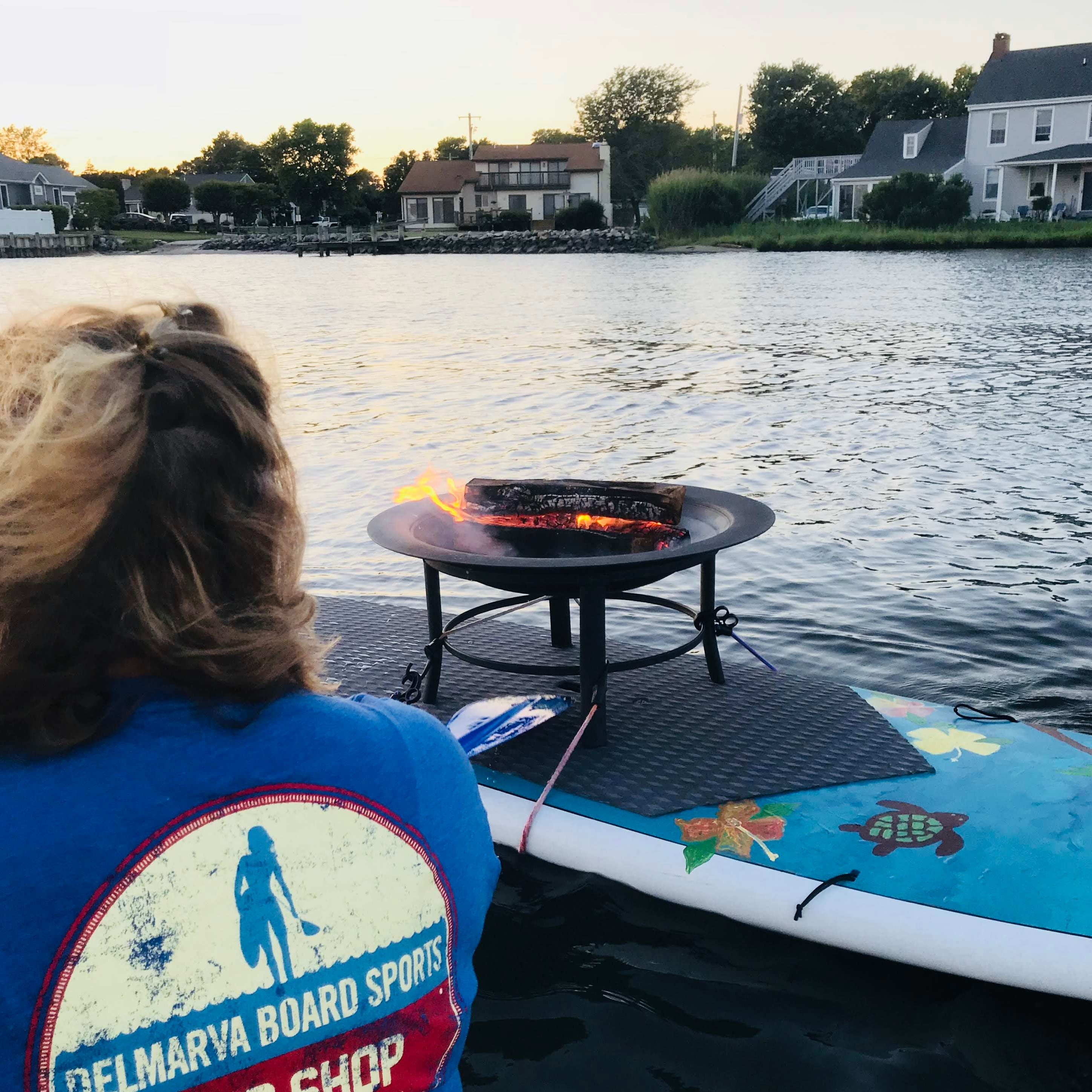 Floating fire pit with s'mores returns to Dewey Beach for paddleboarders this weekend