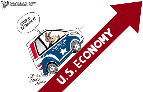 Campaign 2020, Democratic Party, DNC, Presidential Campaign 2020, President Donald J. Trump,spinning their wheel, U.S. economy