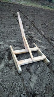 Jerry Apps' father used this garden marker to create rows in his garden until he was 93.