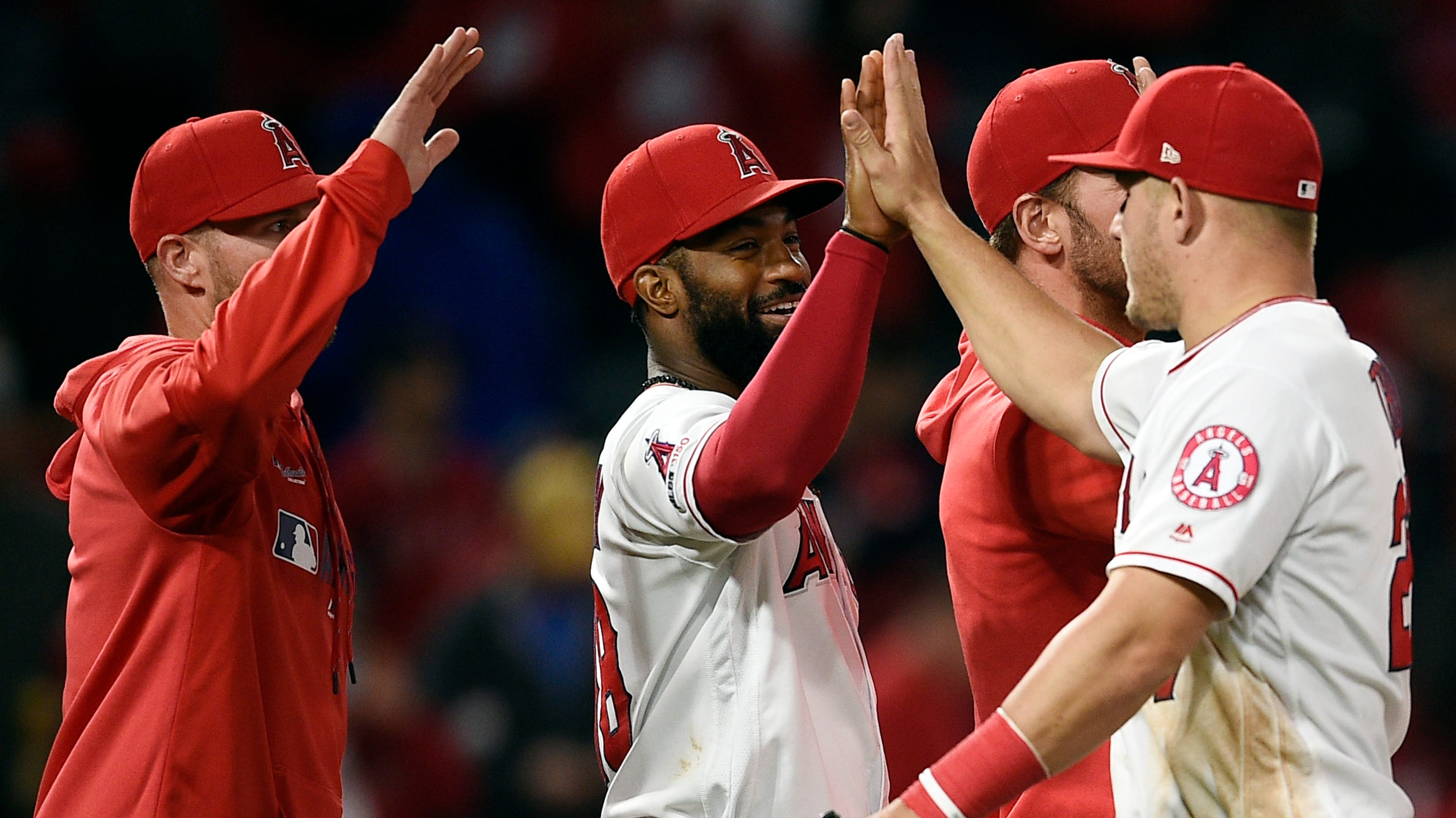 af62c06b3 Angels' odd mix of Mike Trout & Co. inspires hope: 'Nothing but belief in  ourselves'
