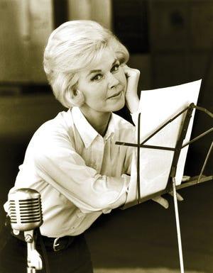 Doris Day in a recording studio, in an undated photo.