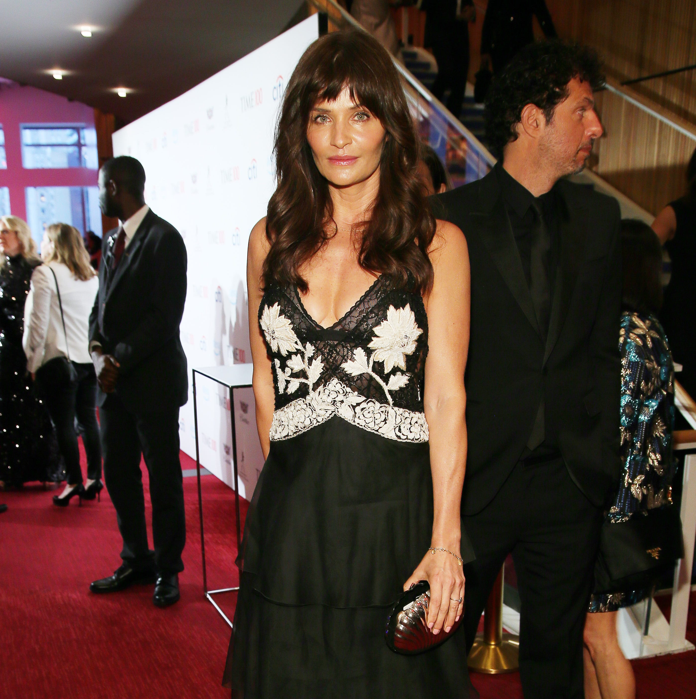 Helena Christensen attends the TIME 100 Gala 2019 Cocktails at Jazz at Lincoln Center on April 23, 2019 in New York City.