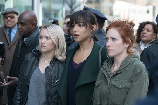 """Emily Osment, Megalyn Echikunwoke and Brittany Snow in """"Not Just Me,"""" coming to Fox this fall."""