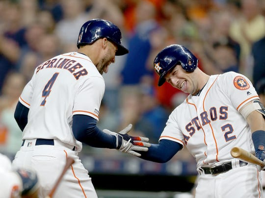 George Springer and Alex Bregman are among the league-leaders in home runs.