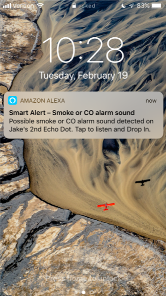 Alert from Alexa with Amazon's Guard feature