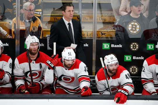 Hurricanes rookie head coach Rod Brind'Amour has his team in the conference final in its first playoff appearance since 2009.