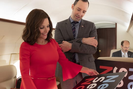 Puppy-dog aide Gary (Tony Hale), right, always by the side of Selina (Julia Louis-Dreyfus), did not receive similar loyalty in return.