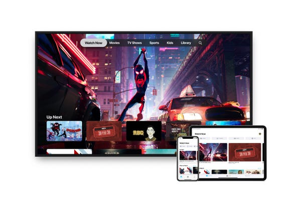 Apple TV app on the TV, iPhone and iPad.
