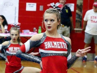 Cheerleader Maggie Magruder adds high school basketball, soccer and track to her routine during her recovery from surgery.