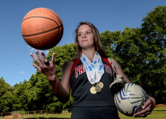 Maggie Magruder, a sophomore at Palmetto High School, is a state champion cheerleader, but also plays soccer, basketball, and track.