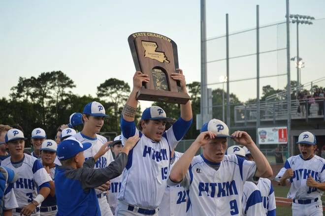Pitkin won its first Class B title since 1999 after defeating Converse, 7-0, in the Class B championship game Monday.