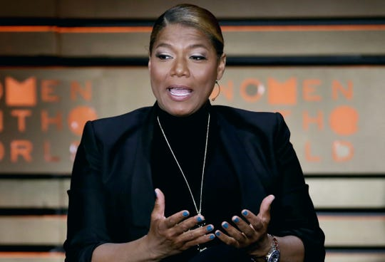 In this April 6, 2017, file photo, Queen Latifah speaks during the Women in the World Summit at Lincoln Center in New York.