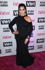 "Michelle Visage arrives at the red carpet for ""RuPaul's Drag Race"" Season 11 at The Orpheum Theatre on Monday, May 13, 2019, in Los Angeles."
