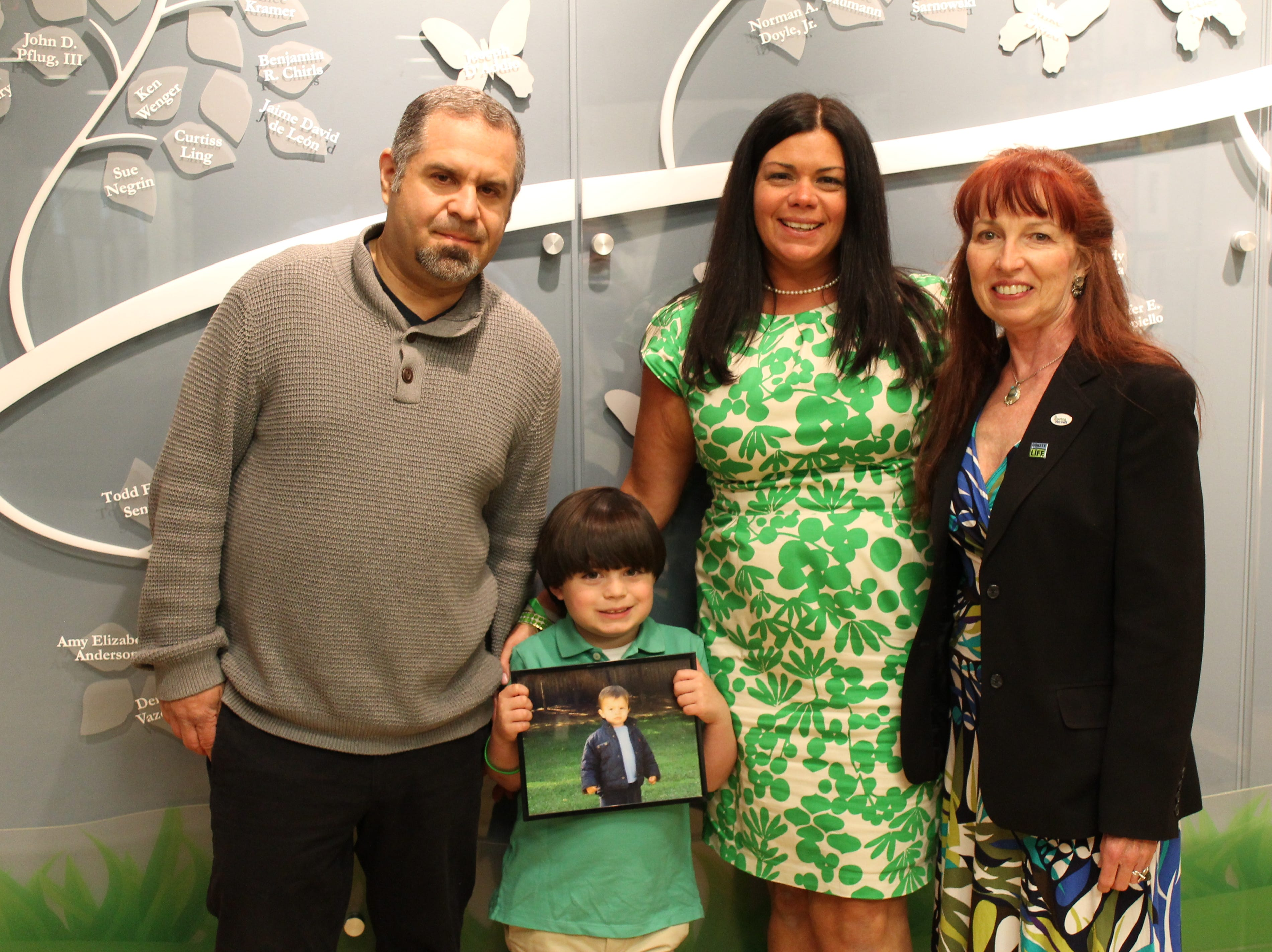 Dorothea Duffy (right) with the Ben Diamond's family: Dad Michael, mom Susan, brother Jake.