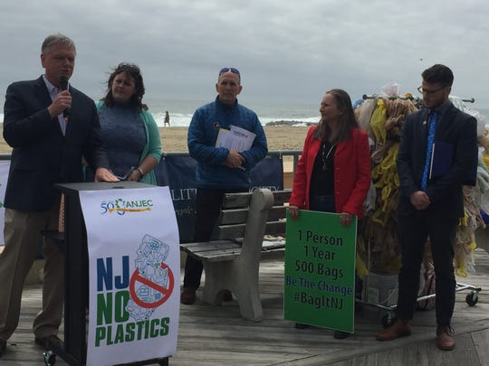 Environmental groups rally in Asbury Park for plastic bag bans