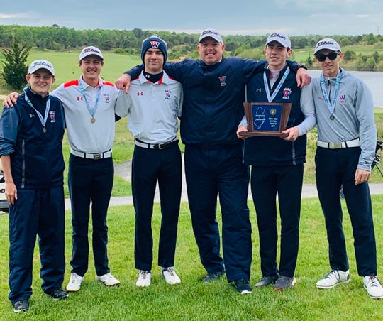 The Wall High School boys' golf team won the NJSIAA Central and South Group II championship on Tuesday at Twisted Dune in Egg Harbor.
