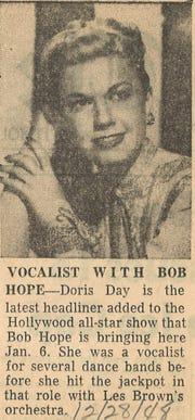 Doris Day coming to Abilene.