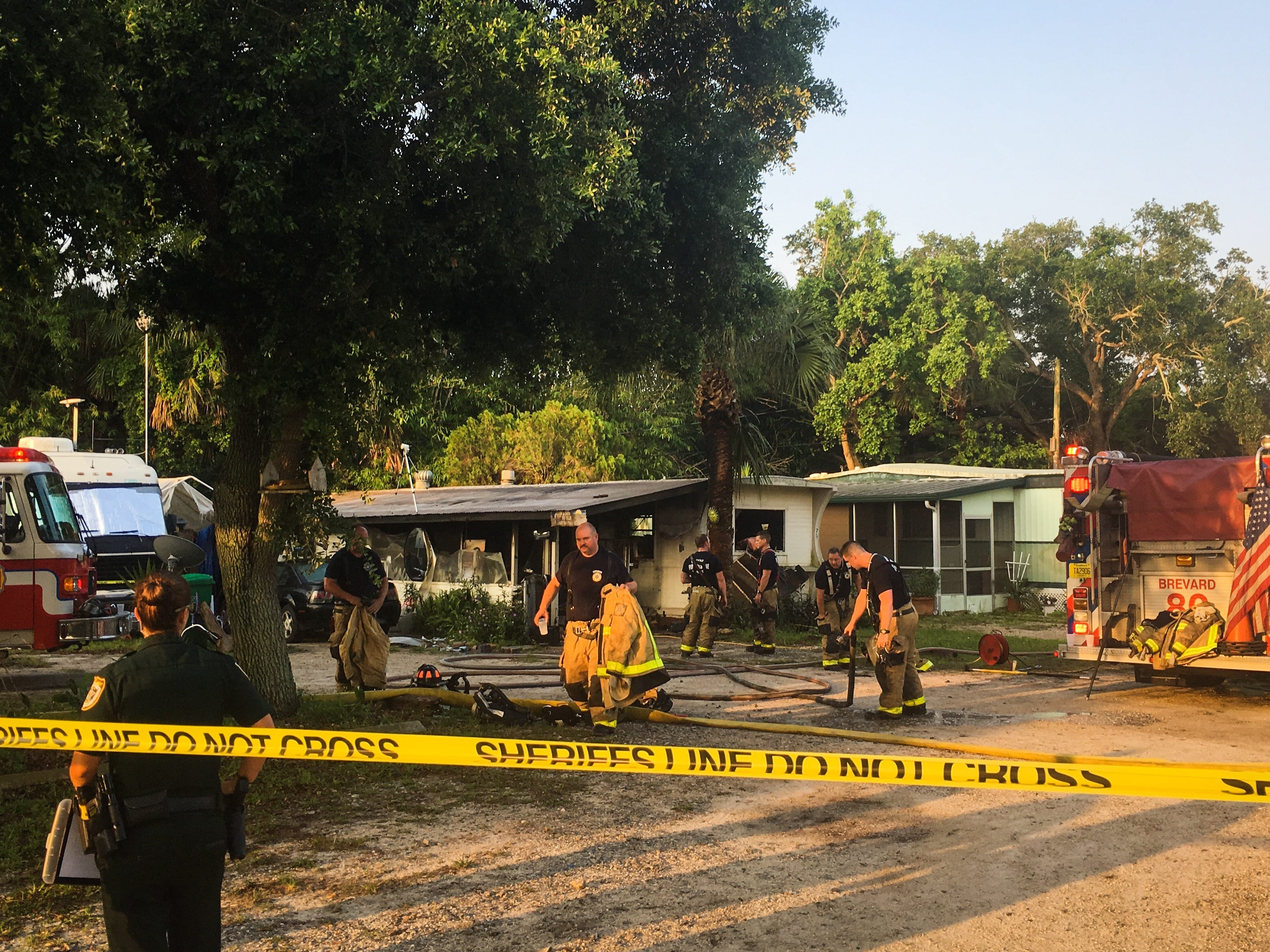 A fire was reported about 6:30 a.m. in a manufactured home in the 6300 block of U.S. 1.