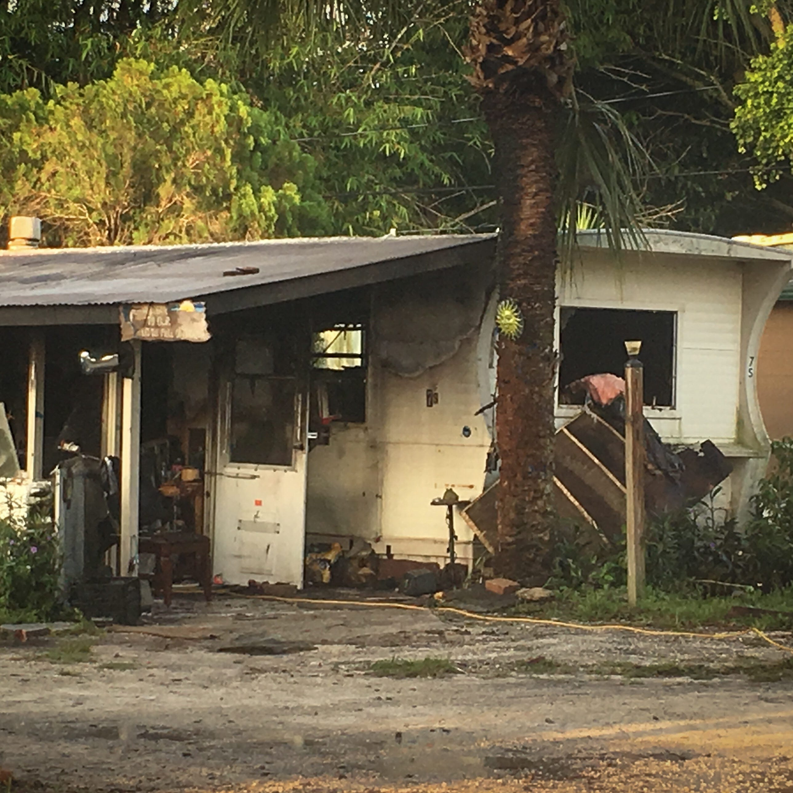 One person seriously injured after early-morning fire in Palm Shores manufactured home