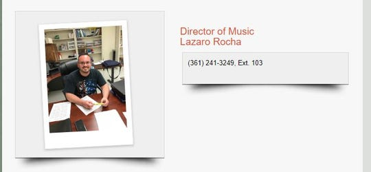 A St. Peter, Prince of the Apostle Catholic Church staff directory shows Lazaro Rocha as the Director of Music. Rocha was arrested on suspicion of online solicitation of a minor on May 9, 2019.