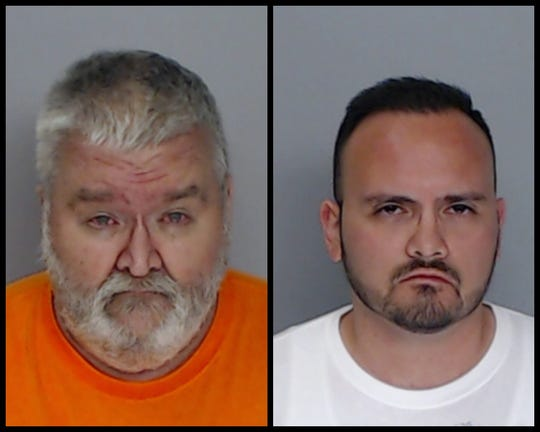 Shane Smith Seay (left) and Lazaro Benito Rocha (right) were arrested on suspicion of online solicit of a minor.