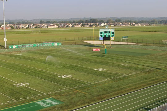 Harrison's Bill Kuntz Field is one of the few football stadiums in Hamilton County with grass surface.