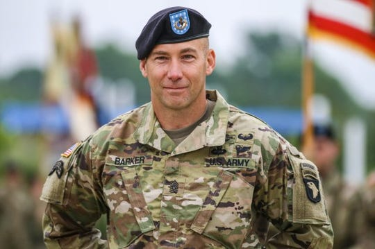 Command Sgt. Maj. Bryan Barker