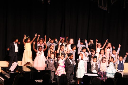 Wardlaw+Hartridge PreK-Grade 1 students performed at a spring concert.
