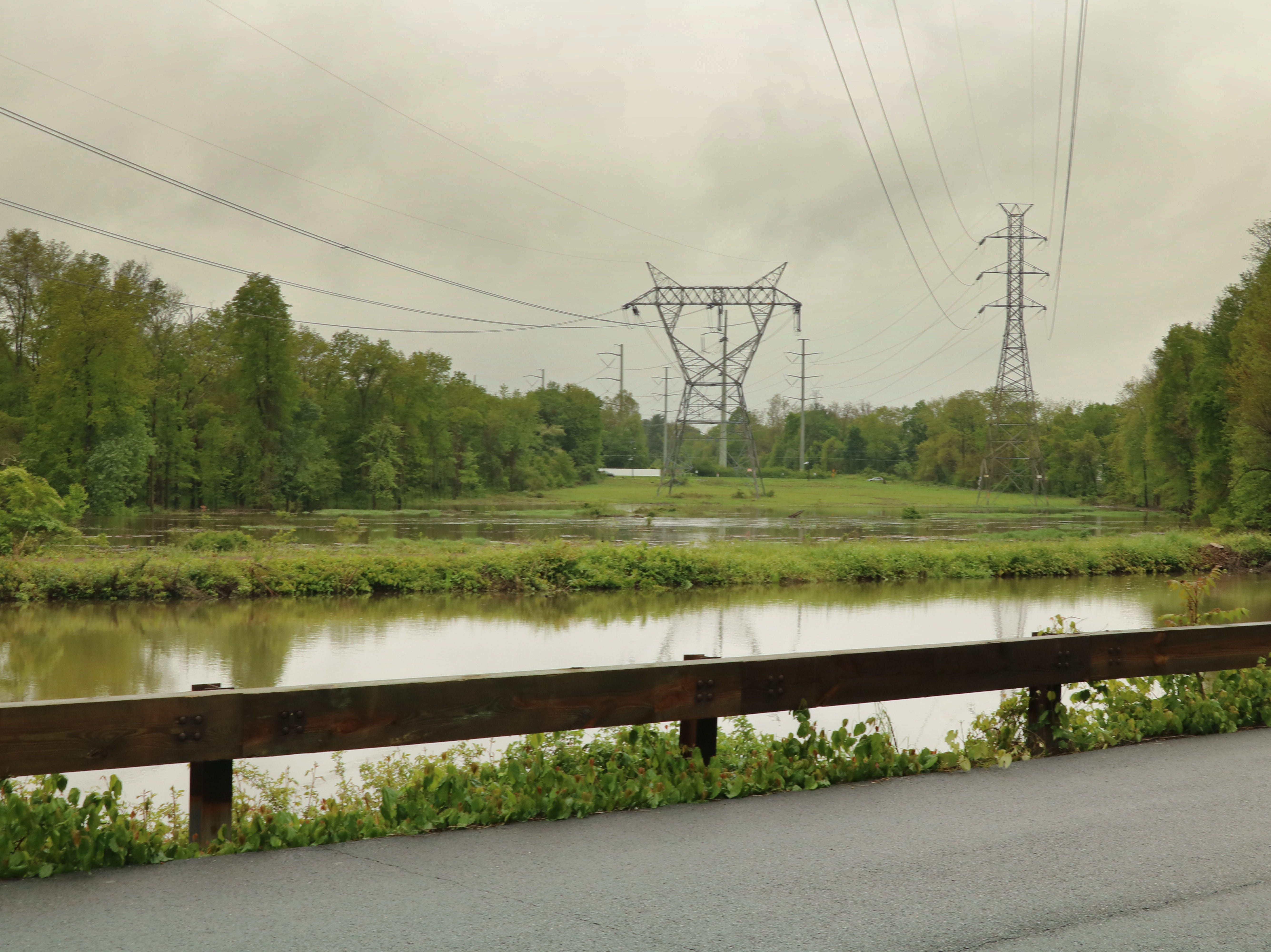 Parts of the Millstone River canal flooded today, closing the Blackwells Mills Road bridge. Commuters are advised to use the Amwell Road bridge.