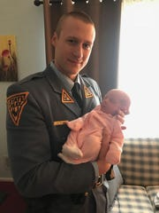 Off-duty New Jersey State Trooper Robert Meyer cleared the airways of a choking 2-week-old after his neighbor came to his home seeking help.