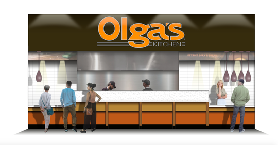 A rendering for the planned Olga's Kitchen in MGM Grand Detroit