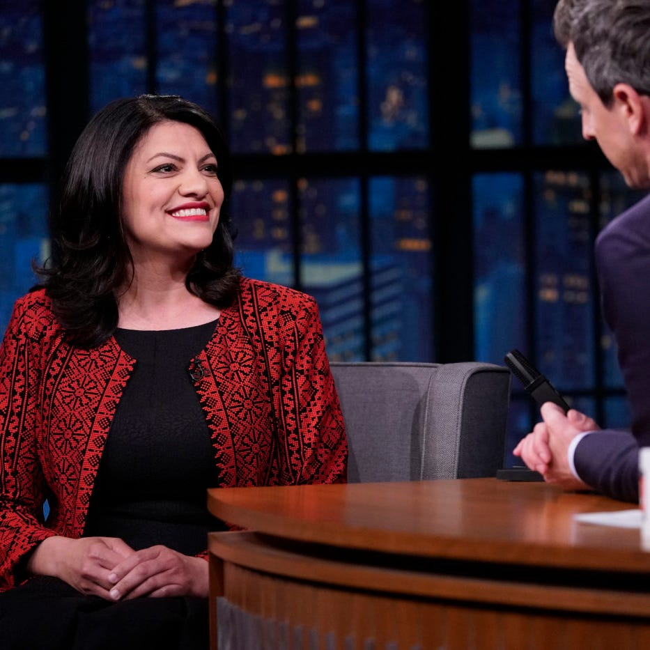 Rashida Tlaib defends Holocaust comments on Seth Meyers' show in face of 'racist idiots'