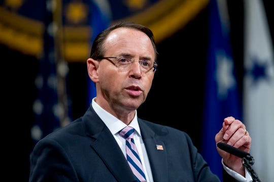 """At my confirmation hearing, I promised that I would conduct the investigation properly and see it through to the appropriate conclusion,"" Rosenstein said. ""In my business, you keep promises."""