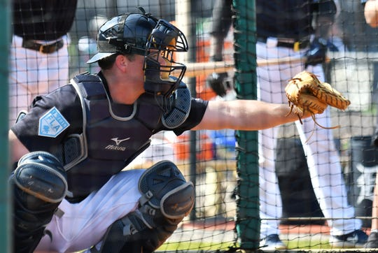 Tigers top catching prospect Jake Rogers was promoted to Triple-A Toledo on Tuesday.
