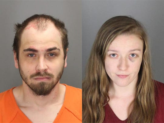 Christopher Simons, left, and Jessica Kropiewnicki, right.