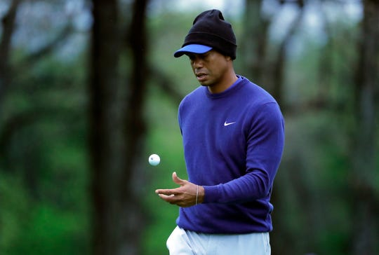 Tiger Woods and the rest of the PGA Championship aren't used to such chilly conditions for this major, which was moved from August to May.