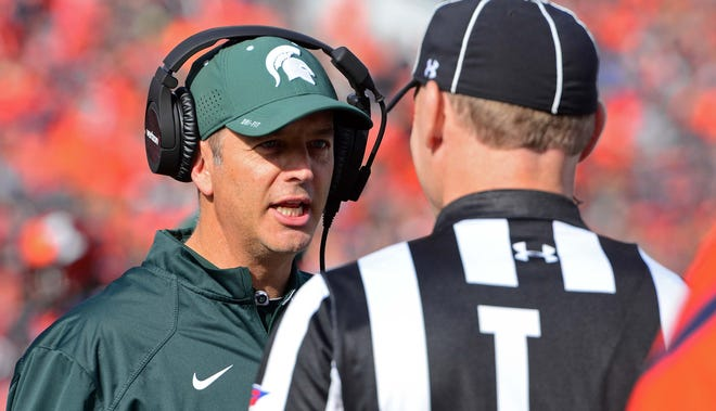 According to records provided by Michigan State, new offensive coordinator Brad Salem's base salary jumped from $402,462 annually to $517,847.
