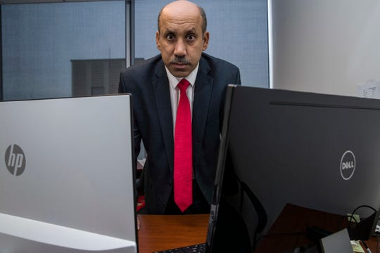 Ali AlAhmed in his office in Washington. Citizen Lab says a fake Twitter account unmasked by The Associated Press was but one piece of a vast years-old and multi-lingual campaign aimed at seeding anti-Saudi, anti-Israel and anti-American stories across the internet.