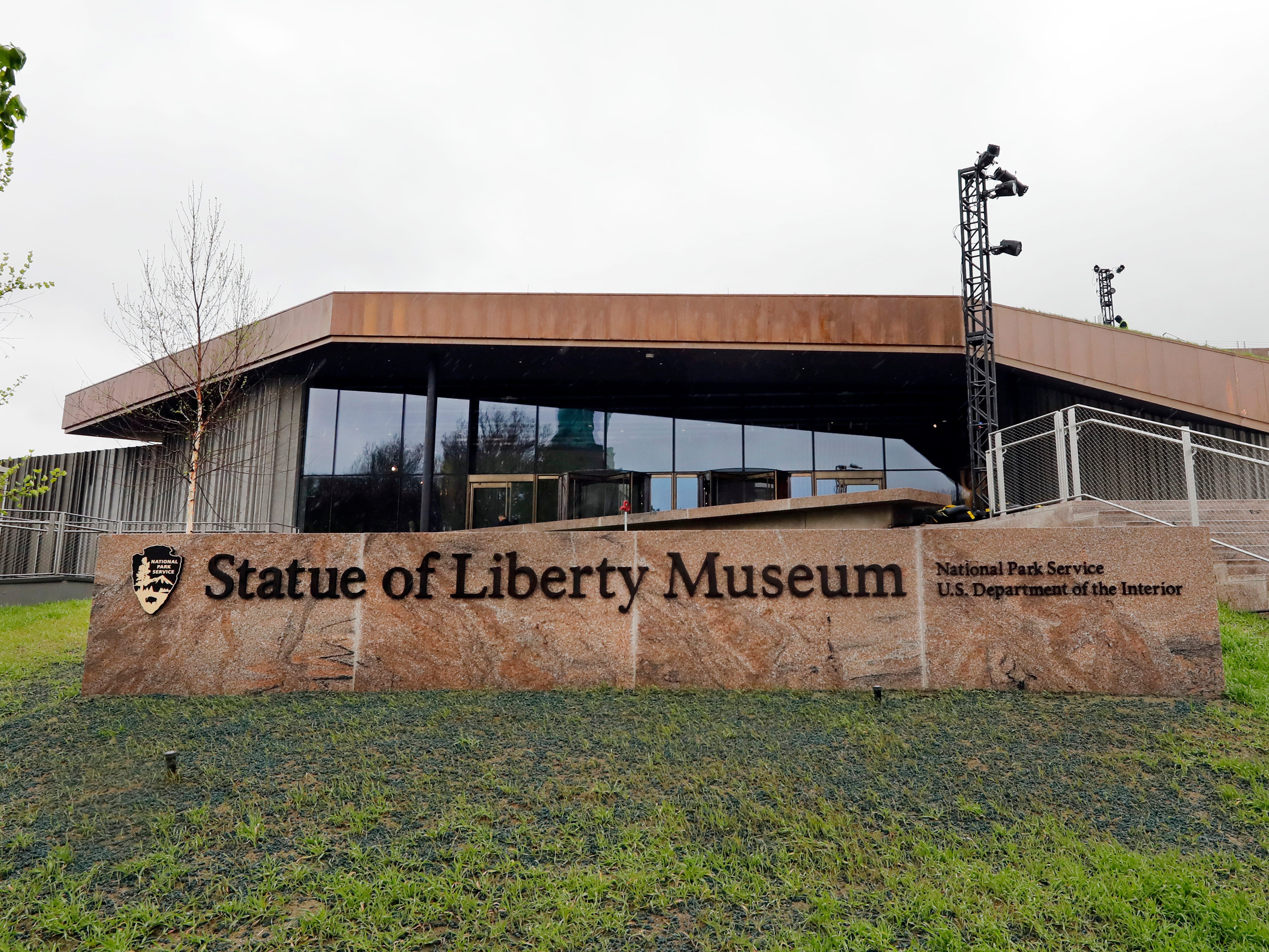A new, 26,000-square-foot museum near the Statue of Liberty on Liberty Island in New York City is scheduled to open to the public on Thursday. It is the new home for the statue's original torch and other artifacts, which had previously been in a smaller museum space inside the statue's pedestal.