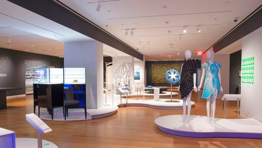 "This May 9, 2019 photo shows an Installation view of ""Nature—Cooper Hewitt Design Triennial"" at the Cooper Hewitt, Smithsonian Design Museum in New York. The exhibit which explores the ways designs drawn from nature can address today's environmental challenges, features 62 designers from around the world. The show runs through Jan. 20, 2020."
