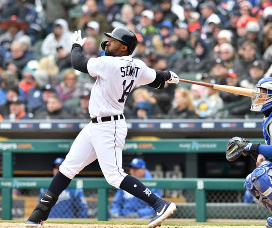 Tigers' Christin Stewart did not start Tuesday night against the Houston Astros.