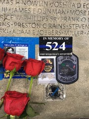 Fort Myers Police Officer Adam Jobbers-Miller was added to the memorial in Washington, ,D.C., that lists law enforcement officers who have died in the line of duty.