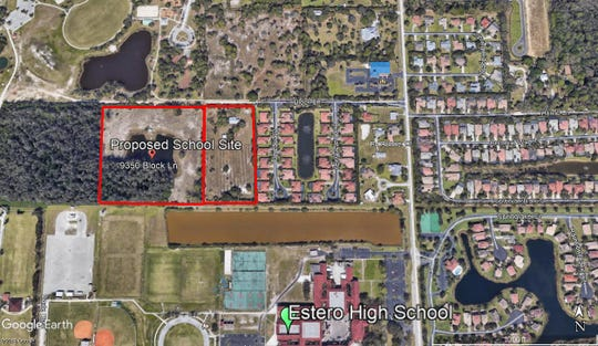 The Lee County school district has bought two pieces of land along Block Land in Estero for $4 million. The district plans to build a K-8 school on the land.