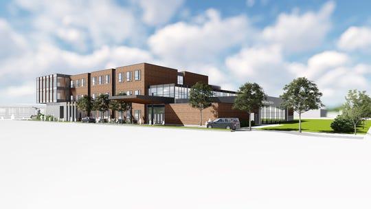 The proposed new Notre Dame  School in De Pere