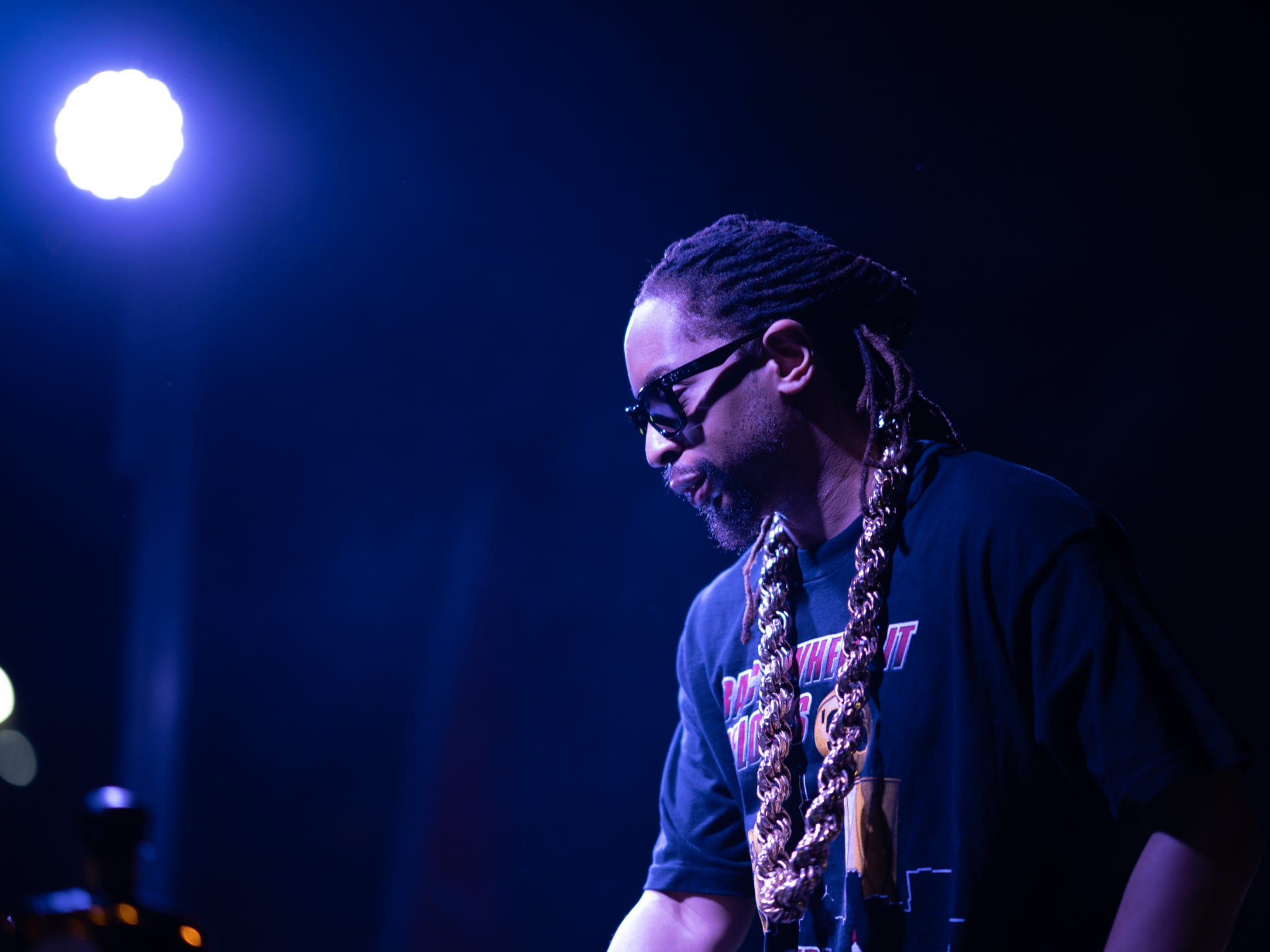 Lil Jon performs at the Beach Bar in Tumon during the neon-themed beach festival on May 11.